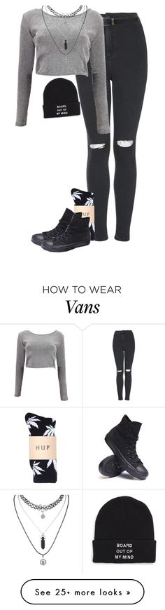 """""""Untitled #180"""" by thefriendlypsychopath on Polyvore featuring Topshop, Forever 21, Boohoo, Converse and Vans"""