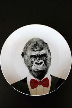 Gorilla Decorative Plate
