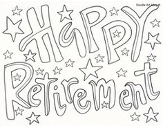 Coloring Pages Happy Retirement Www Imagenesmy Com