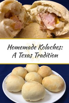 Kolaches are a delicious combination of a sweet dough filled with breakfast foods that seem to be a tradition in Texas. Kolache Recipe Texas, Kolache Recipe Czech, Kolache Factory Dough Recipe, Donut Recipes, Gourmet Recipes, Cooking Recipes, Pastry Recipes, Bread Recipes, Sweet Dough
