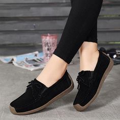 Women shoes For Work Offices Street Styles - Women shoes Flats Comfortable - - Women shoes Casual Black Navy Blue Dress Shirt, Chanel Shoes Flats, Adidas Shoes Women, Bride Shoes, Womens Shoes Wedges, Fashion Shoes, Leather Tassel, Cow Leather, Flat Shoes