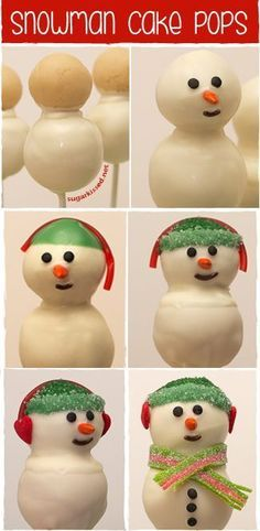 How to Make Easy Snowman Cake Pops - A Step-By-Step Tutorial for Christmas Cake Pops