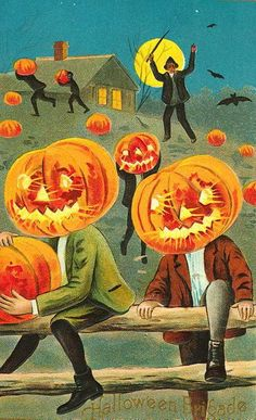 More vintage Halloween cards and images! This makes me so happy :) | halloweenecard.com