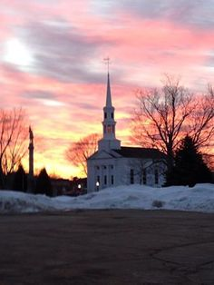 Middleboro, MA Sunrise 2015 Central Congregational Church My Town, Town Hall, Massachusetts, Sunrise, Tower, Eyes, Building, Places, Travel