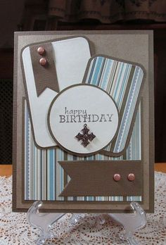 Masculine Birthday Card, by JD from PAUSA - Cards and Paper Crafts at Splitcoaststampers