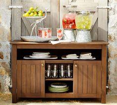 Galvanized Metal Drink Dispenser Stand | Pottery Barn