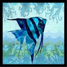 Buy Art For Less 'Waves Fish I Poster' by Jill Meyer Framed Graphic Art Size:
