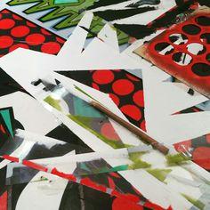 Experimentando con diversas técnicas...en busca de otros resultados. ¡En reinvención! #reinventingart  www.cacheila.net