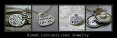 ♥ SimaG Personalized Jewelry ♥: NEW necklace - i carry your heart with me - Inspired by the beautiful poem by E E Cummings-Hand Stamped By Simag