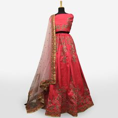 Buy Demanding Pink Colored Partywear Embroidered Mulberry Silk Lehenga Choli at Rs. Get latest Lehengas for womens at Peachmode. Lehenga Collection, Silk Lehenga, Mulberry Silk, India, Blouse, Pink, Stuff To Buy, Color, Dresses
