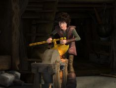 "So this is Hiccup as a 19-year-old, had he failed to hit Toothless. From the episode ""Dark Nights"" on Season 6,"