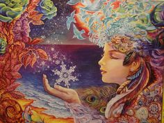 """""""Snowflake""""  by Josephine Wall 500pc.Glow Puzzle"""