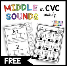 FUN KINDERGARTEN PHONICS EMAIL COURSE - freebies - tons of printables and worksheets - fun phonics activities - first sounds - middle sounds - final sounds - cvc words - word families - blends - digraphs - onset and rime - cvce words - magic e - silent e - super e - vowel teams - reading and writing in kindergarten - phonics centers #kindergartencenters #kindergartenphonics Fun Phonics Activities, Phonics Centers, Phonics Lessons, Cvce Words, Blends And Digraphs, Kindergarten Freebies, Teaching Letters, First Grade Teachers, Letter Sounds