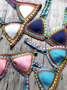 Hot Sale Multicolors Neo Crochet Bikini Suit - stayingsummer