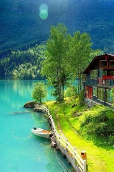 Lodalen, Norway Wonderful Places In The World Places Around The World, The Places Youll Go, Places To See, Around The Worlds, Dream Vacations, Vacation Spots, Magic Places, Wonderful Places, Amazing Places