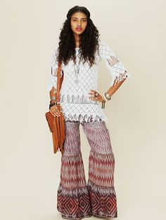 these pants are just too awesome!  Free People Ocean Drive Printed Pant at Free People Clothing Boutique