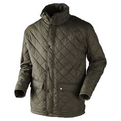 Lightweight, quilted hunting jacket with insulating lining. Cigar Accessories, Man Quilt, Hunting Jackets, Quilted Jacket, Winter Jackets, Sports, Clothes, Shopping, Fashion