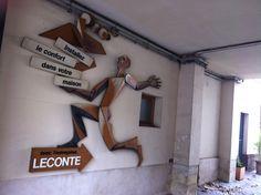 Pub vintage d'un artisan de l'avenue Denfert-Rochereau (Paris)