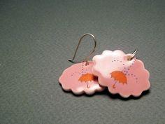 Love these <3  Bubblegum porcelain umbrella and clouds handmade earrings.  sweetmud.etsy.com