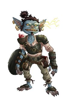 Pathfinder Blue Goblin by mscorley on DeviantArt