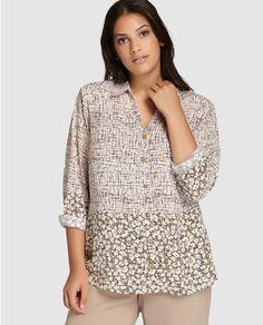 Camisa de mujer talla grande Talla y Moda con distintos estampados Blusas De  Moda 7f5425895db