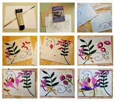 Love these paintings, and great diy instructions!