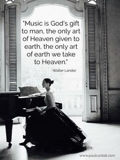Music is Heaven. I believe this and I think it definitely describes ART, too. Art in itself. Sound Of Music, Music Love, Music Is Life, My Music, Music Is Art, Christian Music, Christian Quotes, Music Therapy, Gospel Music