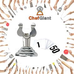 ChefGiant 25 Harp-Clips, Place Card Holders, Table Menu Holders, Table Card Holders, Banquet Table Place Card Holders w/ Place Cards 1-25  #ChefGiant #KitchenUtensils #Cookware #HarpClips