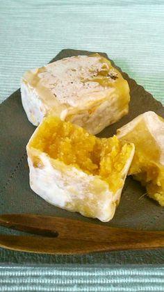 焼き芋の香ばしさをしっかり残した100パーセント焼き芋のきんつば。安納芋が手に入ったらぜひ! その他の和菓子カテゴリ掲載
