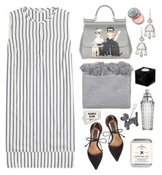 """""""Night at the Bowl"""" by barngirl ❤ liked on Polyvore featuring Brunello Cucinelli, Steve Madden, Jayson Home, Anne-Claire Petit, Sharon Khazzam, Dolce&Gabbana, Bobbi Brown Cosmetics and William Yeoward"""