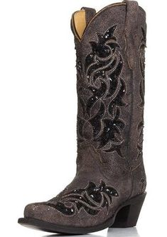 black cowgirl boots - Google Search
