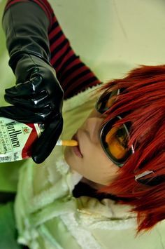 I might be a little biased, cause Matt is one of my first anime crushes. But this cosplayer just rocks those goggles, looks smokingly hot with the cigarette and and has a wig that actually looks like real hair (unlike some others I've seen). (Matt from Death Note)