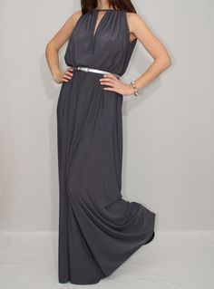 Wide Leg Jumpsuit Palazzo Jumpsuit in Gray for Women by KSclothing, $49.00