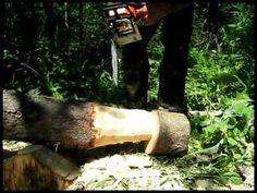 Ben Taylor Carves A Mushroom With A Chainsaw. - YouTube
