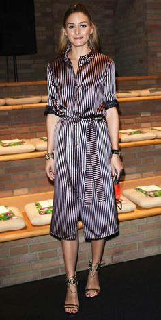 MAX&Co. Olivia Palermo spotted wearing the striped shirtdress from our Spring / Summer 17 collection