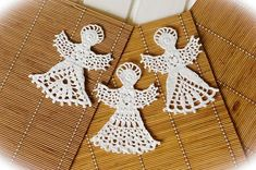 3 Crochet angels Christmas ornaments Setof 3 Crochet angel Christmas tree decorations Crochet Christmas angel