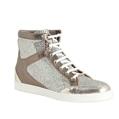 LOVE Jimmy Choo, Glitter and Leather Tokio Sneaker