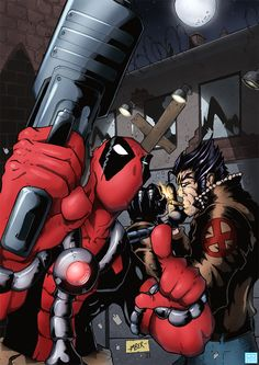 Wolverine Dead Pool comic drawings | Deadpool and Wolverine by RecklessHero