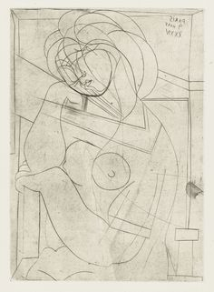 Pablo Picasso. Dreamy Woman in Armchair, Her Cheek on Her Hand from the Vollard Suite. March 9, 1934, printed 1939 | MoMA