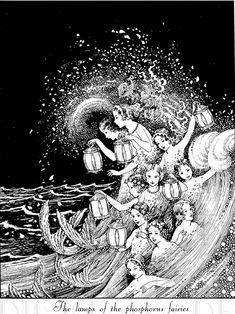 Vintage illustration - mermaids