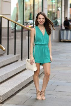 Caralina Style: Teal Romper