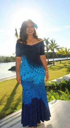 Love that dress Samoan Designs, Polynesian Designs, Island Wear, Island Outfit, Island Style Clothing, Clothing Styles, Island Wedding Dresses, Samoan Dress, Different Dresses
