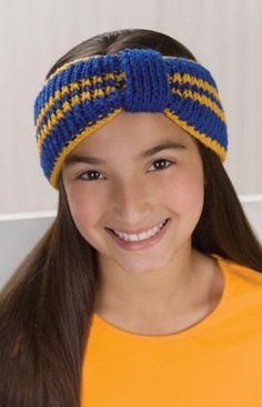 Sporty Headband Knitting Pattern  You could do these in school colors.  Would make a nice gift.