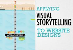 fascinated by how much we can express by visual storytelling integrated in website designs...