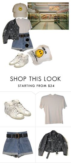 """""""90's supermarket (tag)"""" by meh-okay ❤ liked on Polyvore featuring Golden Goose"""