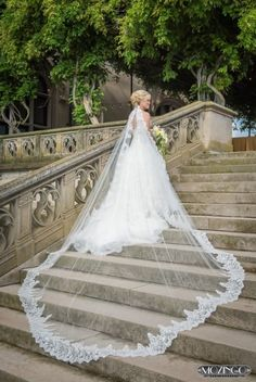 Two words:That.Veil! Our jaws hit the floor after seeing this stunning cathedral style veil from recent #Biltmore bride Alicia. What a way to kick off #WeddingGownWednesday!