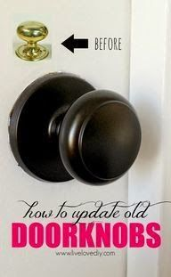 How to update old and outdated doorknobs in you home. Easy upgrade and makes a big impact!