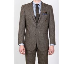 Natural Brown Tweed Suit by DragonInside