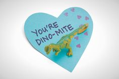 Who said love is extinct?! This Valentine card for kids is the cutest.