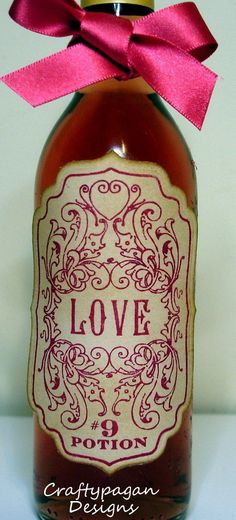 Love Potion #9 Vintage style stickers.